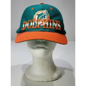 Vintage Miami Dolphins 3D Embroidery Orange Teal E